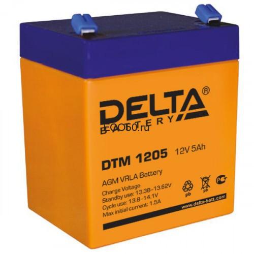 Аккумулятор DELTA DTM 1205 Номинальная ёмкость - 5 Ач, Номинальное напряжение - 12 В, Технология - AGM, Срок службы до 6 лет, Вес - 1.8 кг, Размеры - 90 мм (длина), 70 мм (ширина), 101 мм (высота).