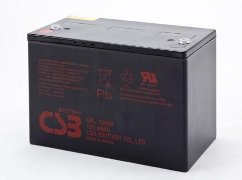 Аккумулятор CSB GPL 12880 Номинальное напряжение - 12 В,  Номинальная ёмкость - 88 Ач, Технология - AGM, Срок службы до 10 лет,  Вес - 29,7 кг, Размеры - 308,7 мм (длина), 169 мм (ширина), 213.6 мм (высота)