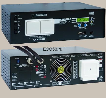 Инвертор МАП SIN Энергия PRO 12В 3кВт Максимальная мощность - 3000 Вт, Номинальная мощность - 2000 Вт, Пиковая мощность - 5000 Вт, Напряжение - 12 В, Зарядный ток - 100 А, КПД - 93%, Вес - 22.8 кг, Размеры - 130 мм (высота), 370 мм (длина), 510 мм (ширина).