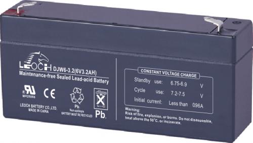 Аккумулятор LEOCH DJW 6-3.2 Номинальное напряжение - 6 В,  Номинальная ёмкость - 3,2 Ач, Технология - AGM, Срок службы до 8 лет,  Вес - 0,67 кг, Размеры - 134 мм (длина), 34 мм (ширина), 60 мм (высота).