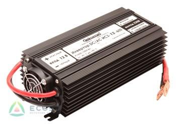 Инвертор ИС3-12-600 600Вт/12В чистый синус Выходное напряжение  220 В, 50 Гц. Синусоидальное, Входное напряжение 10,5 - 15 В, Мощность 600 Вт, максимальная 1000 Вт (в течение 2 сек.), Диапазон рабочих температур -10 +40 °C, КПД 92%, Размеры 105х230х65 мм, Длина проводов 50 см, Вес 1,35 кг.
