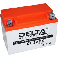 Аккумулятор для мототехники DELTA CT 1209 12В 9Ач (YTX9-BS, YTX9)