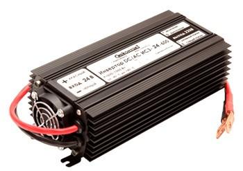 Инвертор ИС3-24-600 600Вт/24В чистый синус Выходное напряжение  220 В, 50 Гц. Синусоидальное, Входное напряжение 21 - 30 В, Мощность 600 Вт, максимальная 1000 Вт (в течение 2 сек.), Диапазон рабочих температур -10 +40 °С, КПД 92%, Размеры 105х230х65 мм , Длина проводов 50 см, Вес 1,35 кг.