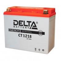 Аккумулятор для мототехники DELTA CT 1218 12В 18Ач (YTX20-BS, YTX20H, YB16-B-CX, YB16-B, YB18-A)