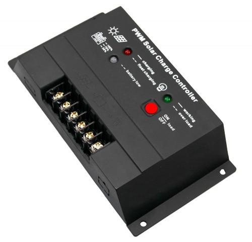 Контроллер JUTA CM2024 20A 12V/24V Номинальное напряжение -  12V/24 Вольт Максимальный ток на входе -  20 А Мощность подключаемых солнечных батарей - 240 ватт (12В), 480 ватт (24В)