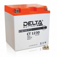 Аккумулятор для мототехники DELTA CT 1230 12В 30Ач (YTX30L, YТX30L-BS, YB30L-B)