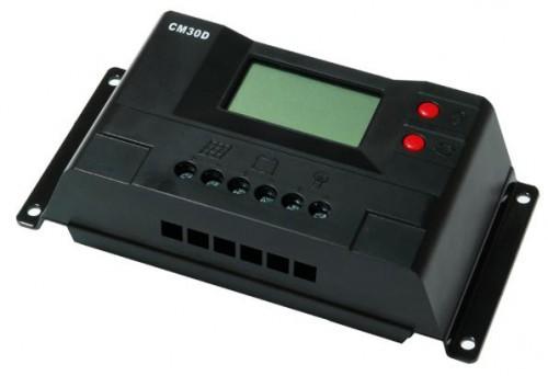 Контроллер JUTA CM30D 30A 12V/24V Максимальный ток на входе - 30А Напряжение системы 12/24 В (автоматическое определение) Мощность подключаемых солнечных батарей - 360 ватт (12В), 720 ватт (24В)
