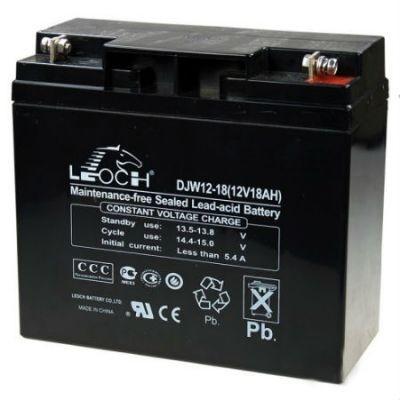 Аккумулятор LEOCH DJW 12-18 Номинальное напряжение - 12 В,  Номинальная ёмкость - 18 Ач, Технология - AGM, Срок службы до 8 лет,  Вес - 5,32 кг, Размеры - 181,5 мм (длина), 77 мм (ширина), 167,5 мм (высота).