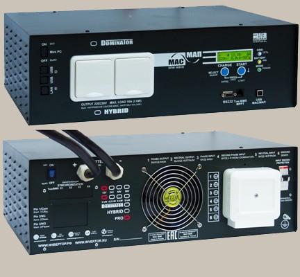 Инвертор МАП SIN Энергия PRO 48В 6кВт Максимальная мощность - 6000 Вт, Номинальная мощность - 4000 Вт, Пиковая мощность - 9000 Вт, Напряжение - 48 В, Зарядный ток - 50 А, КПД - 96%, Вес - 30,1 кг, Размеры - 210 мм (высота), 370 мм (длина), 510 мм (ширина).