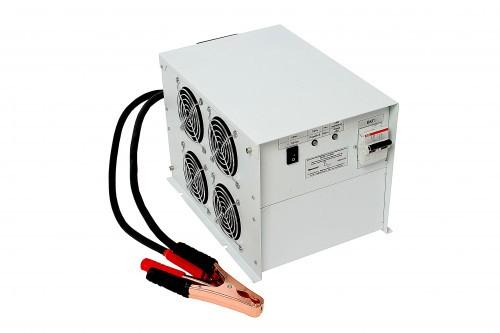 Инвертор с зарядным устройством ИБПС-24-2000 2000Вт/24В чистый синус Входное напряжение (DC) 21-27,2 В, Входное сетевое напряжение (AC)  190-245 В, 50 Гц, Выходное напряжение  220 В; 50 Гц. Синусоидальное, Мощность 2000 Вт, Максимальная мощность 3000 Вт (в течение 5 сек.), Тип: OffLine, Ток заряда 16 А, Габариты 206x285x198 мм, Вес 6 кг