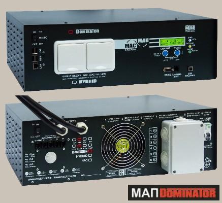 Инвертор МАП SIN Энергия DOMINATOR 12В 3кВт Максимальная мощность - 3000 Вт, Номинальная мощность - 2000 Вт, Пиковая мощность - 5000 Вт, Напряжение - 12 В, Зарядный ток - 100 А, КПД - 93%, Вес - 22,8 кг, Размеры - 180 мм (высота), 370 мм (длина), 510 мм (ширина).