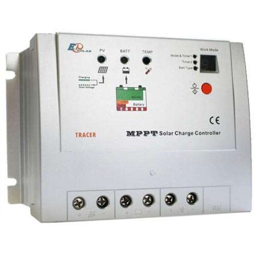 MPPT TRACER-2210RN,20A,12/24V Номинальное напряжение - 12V/24 Вольт, Максимальный ток на входе - 20 А, Мощность подключаемых солнечных батарей - 240 ватт (12В), 480 ватт (24В), Технология MPPT