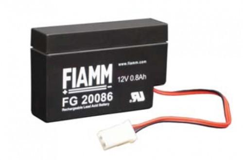 Аккумулятор FIAMM FG 20086 Номинальная ёмкость - 0.8 Ач,  Номинальное напряжение - 12В, Технология - AGM,  Вес -0,35 кг,  Размеры - 96 мм (длина), 25 мм (ширина), 62 мм (высота)