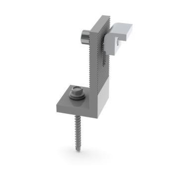 L-образное крепление L-образное крепление L-образный крепеж для солнечных батарей Материал - Анодированный алюминий