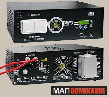 Инвертор МАП SIN Энергия DOMINATOR 48В 15кВт Максимальная мощность - 15000 Вт, Номинальная мощность - 10000 Вт, Пиковая мощность - 19000 Вт, Напряжение - 48 В, Зарядный ток - 125 А, КПД - 96%, Вес - 55 кг, Размеры - 210 мм (высота), 410 мм (длина), 560 мм (ширина).