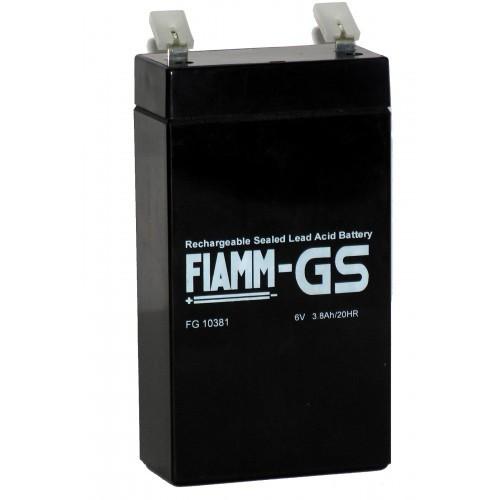 Аккумулятор FIAMM FG 10381 Номинальное напряжение - 6 В, Номинальная ёмкость - 3,8 Ач, Технология - AGM, Срок службы до 5 лет, Вес - 0,60 кг, Размеры - 66 мм (длина), 33 мм (ширина), 118 мм (высота).