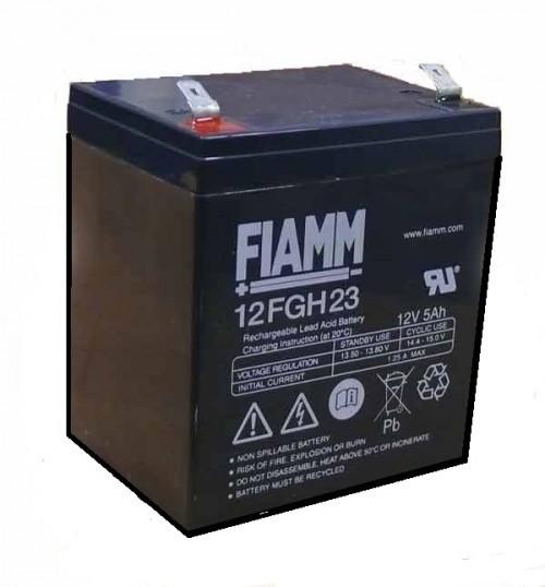 Аккумулятор FIAMM 12FGH23 с повышенной энергоотдачей Номинальная ёмкость - 5.0 Ач, Технология - AGM, Вес -2000грамм, Размеры -90мм (длина),70мм (ширина),101мм (высота)