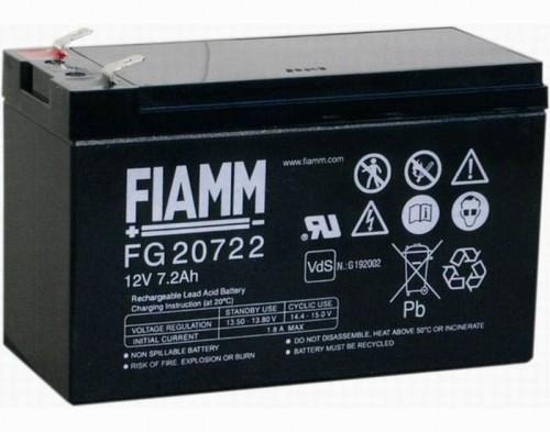 Аккумулятор FIAMM FG 20722 Номинальное напряжение - 12 В, Номинальная ёмкость - 7.2 Ач, Технология - AGM, Срок службы до 5 лет, Вес - 2,43 кг, Размеры - 151 мм (длина), 65 мм (ширина), 94 мм (высота).