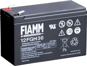 Аккумулятор FIAMM 12FGH36 с повышенной энергоотдачей Номинальная ёмкость -9.0Ач, Технология - AGM, Вес -2650грамм, Размеры -151мм (длина),65мм (ширина),94мм (высота)