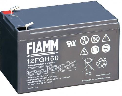 Аккумулятор FIAMM 12FGH50 Аккумуляторы с повышенной энергоотдачей Номинальная ёмкость - 12 Ач, Технология - AGM, Вес -4200грамм, Размеры -151мм (длина),98мм (ширина),94мм (высота)